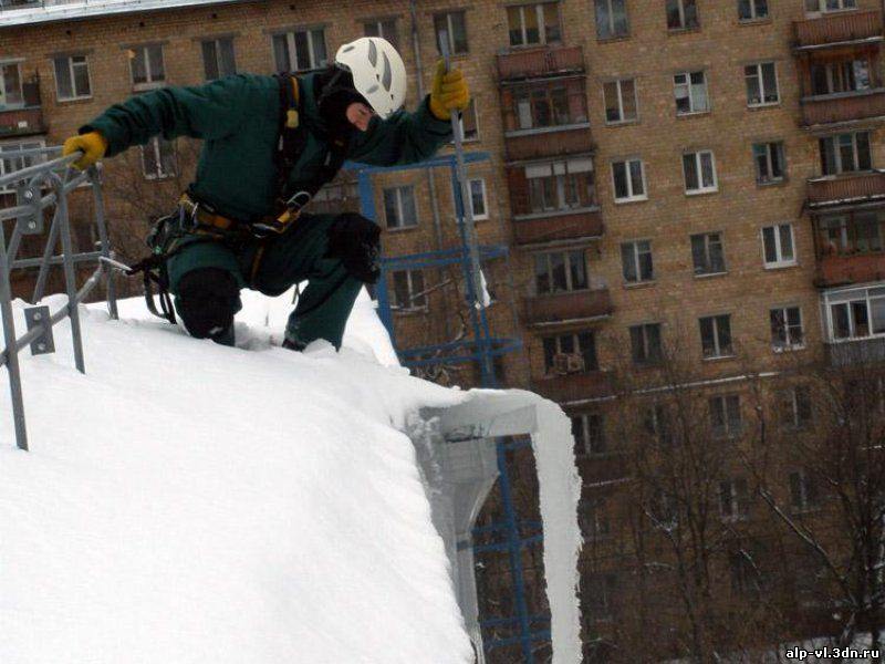 Киров чистка крыш от снега